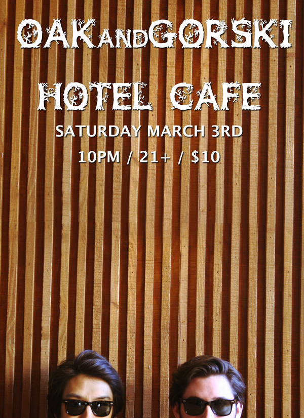 Full Band Show at Hotel Cafe March 3rd!